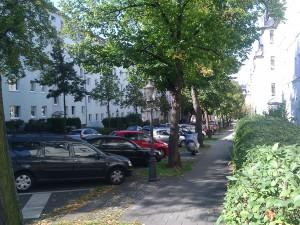 Blick entlang der Humboltstraße