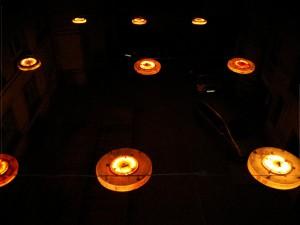 Beleuchtung im Innenhof vom Weltecho