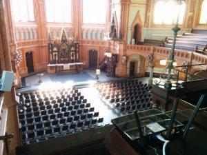 Der Router in der Kirchenhalle der Markuskirche