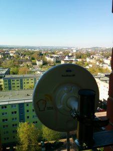 Der Router für Richtung Süden zur Anbindung der Harthauer Lutherkirche